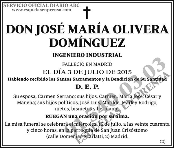 José María Olivera Domínguez